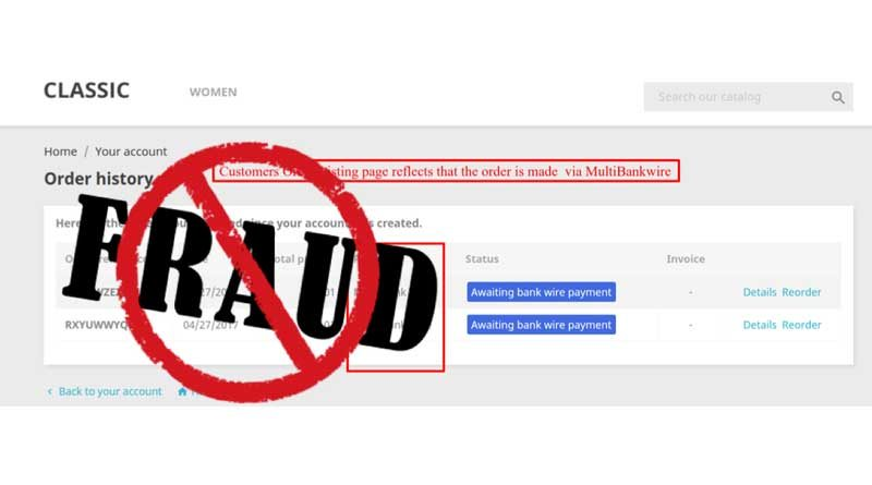 BE Aware, Early Wire Discount Fraud